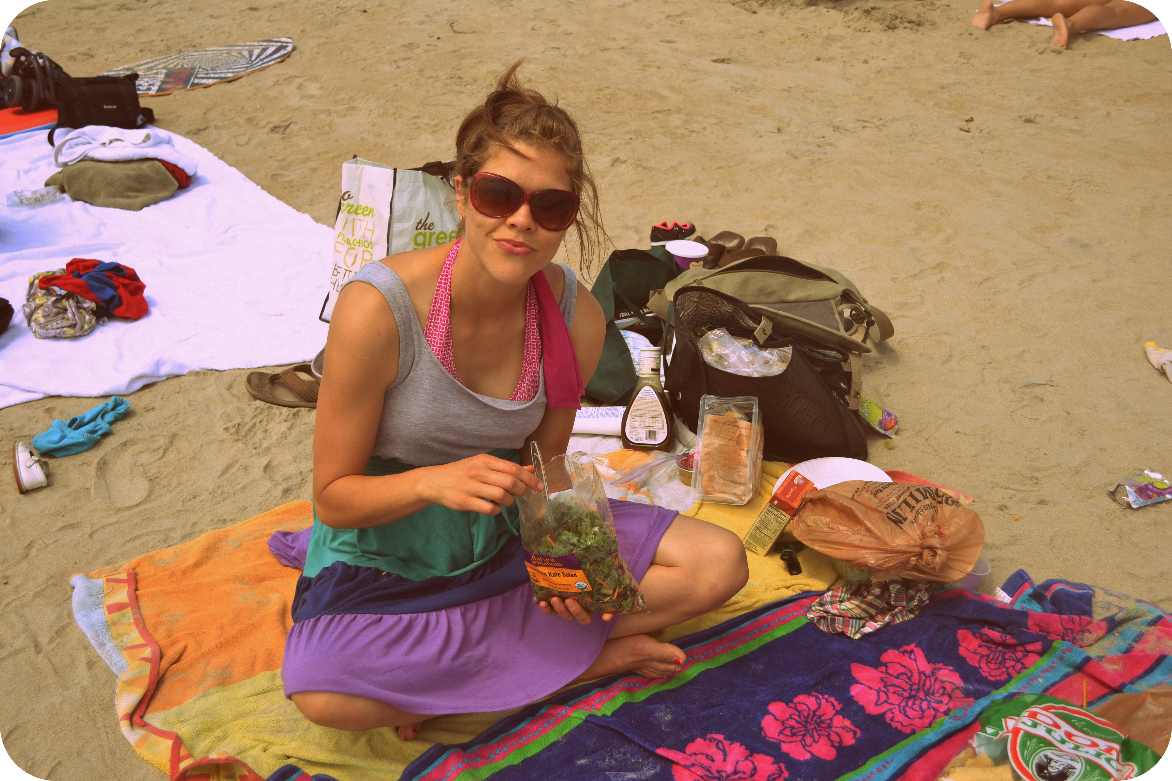 Eating Lunch On The Beach Janae Bring Joy