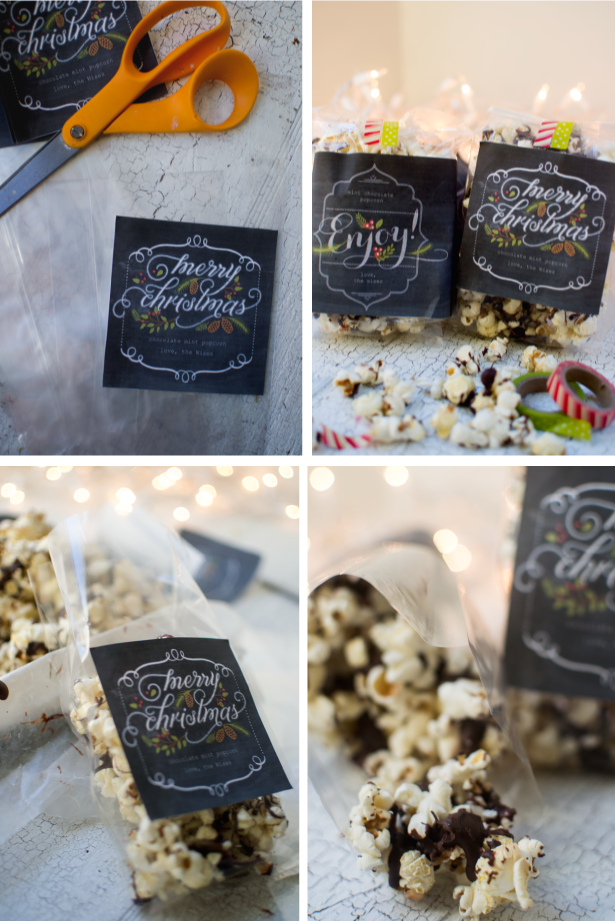 bring-joy-edible-christmas-gift-chocolate-mint-popcorn-vegan
