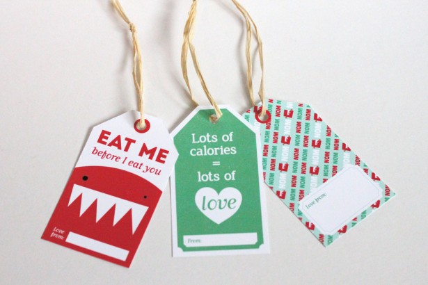 gift tags eat me before I eat you