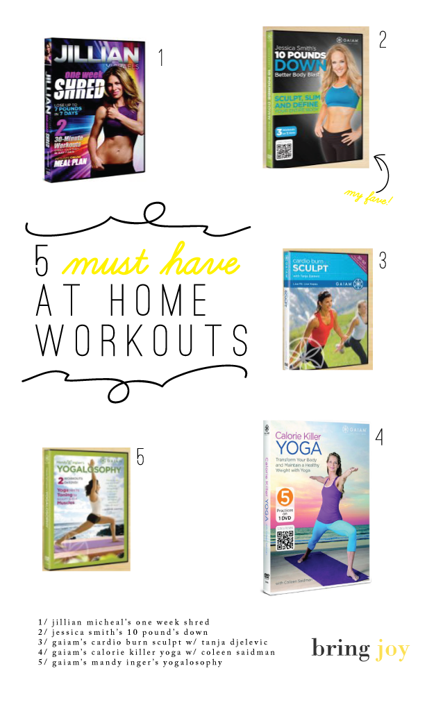 What are the best workout DVD's for weight loss? Here are 5 must haves. // bring joy