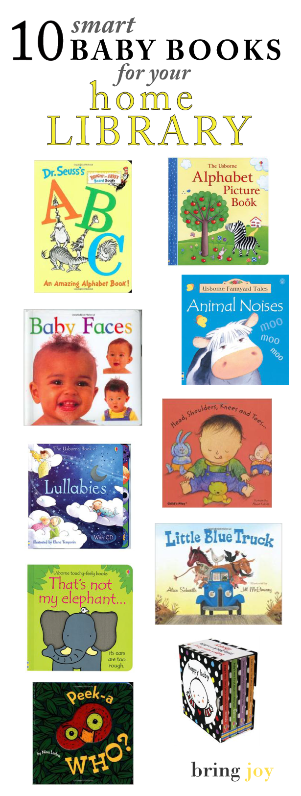 10 smart essential baby books worth owning // bring-joy.com #books #parenting #baby
