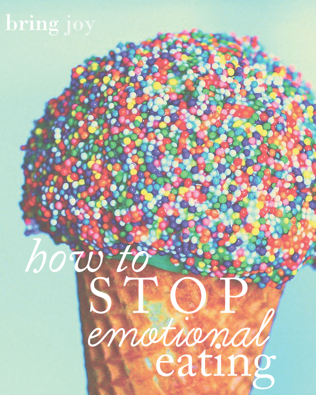 how to stop emotional eating {a few thoughts} //  bring-joy.com  #health