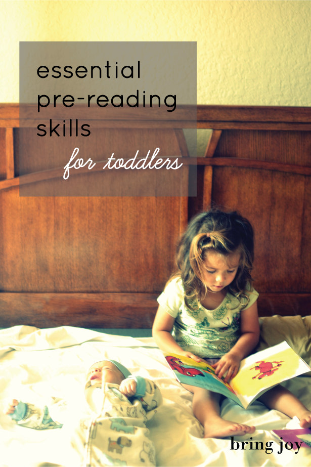 essential pre-reading skills for toddlers // bring-joy.com #literacy #parenting #books