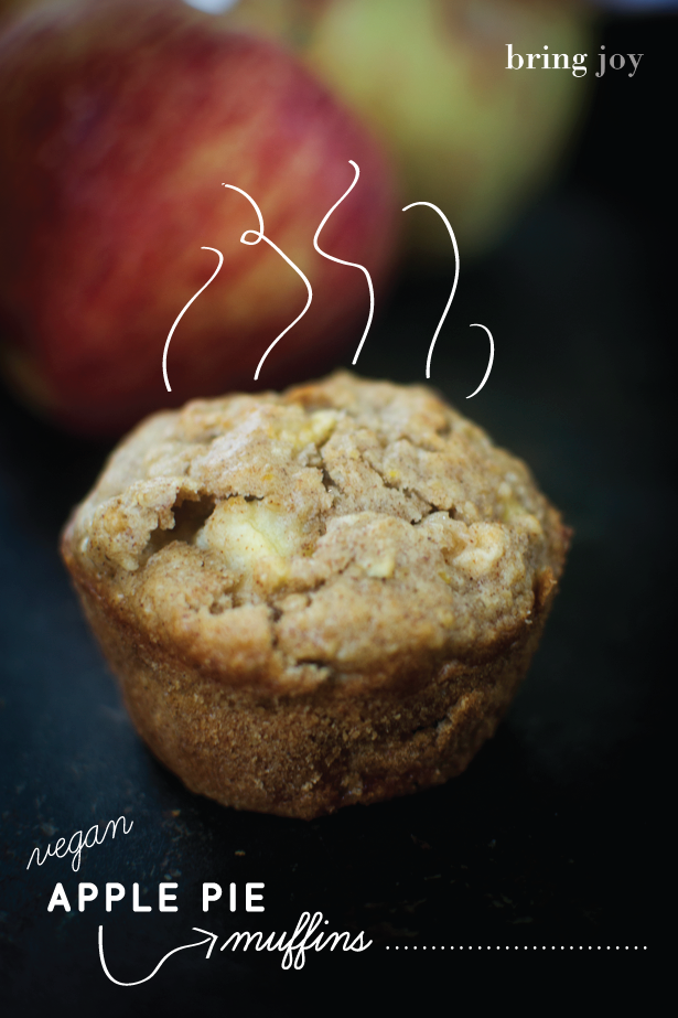 vegan apple pie muffins with gluten-free & low-fat options